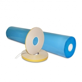 Лента двусторонняя на основе вспененного полиэтилена (лайнер из силиконизир. бумаги)